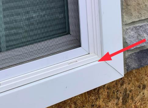 Picture frame type trim under the window is a water funnel.
